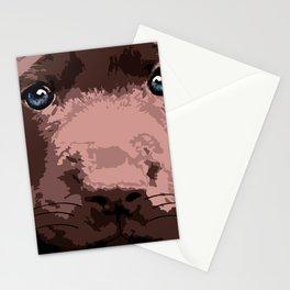 Hot chocolate labrador puppy Stationery Cards