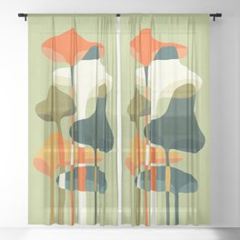 Little mushroom Sheer Curtain