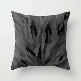 Shattered3 - Shades of Grey Throw Pillow