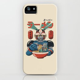 Super Ramen Bot iPhone Case