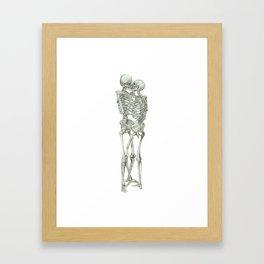 Skeleton Kissing Couple: Love Halloween Framed Art Print