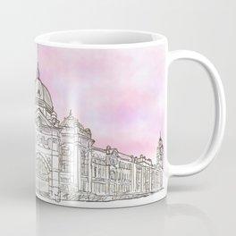 Sketching Flinders Street railway station Melbourne Australia Coffee Mug
