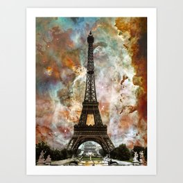 The Eiffel Tower - Paris France Art By Sharon Cummings Art Print