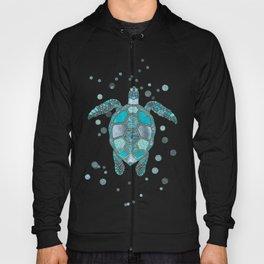 Glamour Aqua Turquoise Turtle Underwater Scenery Hoody