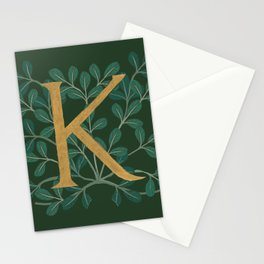 Forest Letter K 2018 Stationery Cards