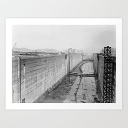 Panama Canal construction Art Print