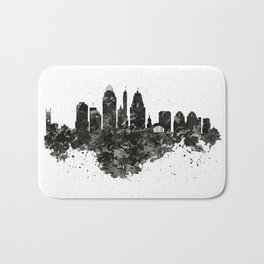Cincinnati Skyline Black and White Bath Mat