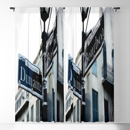 Dumaine and Bourbon - Street Sign in New Orleans French Quarter Blackout Curtain