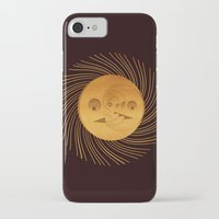 sun and moon iPhone & iPod Cases featuring sun-moon by Vila Propuh
