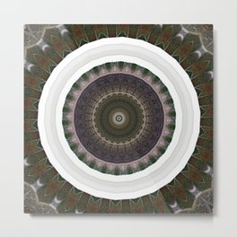 New Frame Oddity Mandala 19 Metal Print