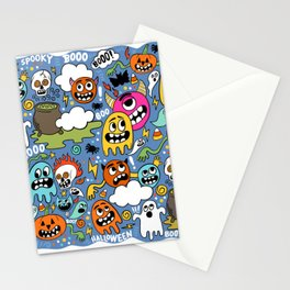 Ghosts of Halloween Stationery Cards
