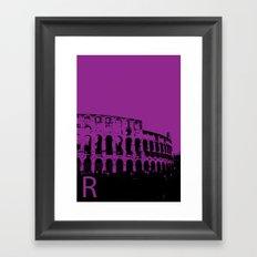 Rome R Framed Art Print