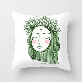 Miss Aster Throw Pillow