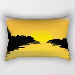 Sunset on the sea Rectangular Pillow