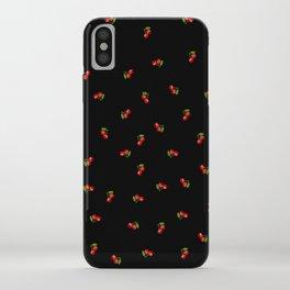 Dark Delicate Cherry iPhone Case
