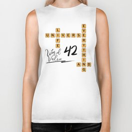Life Universe and Everything Scrabble 42 Biker Tank