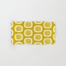 Mid Century Modern Atomic Sunburst Mustard Yellow Hand & Bath Towel