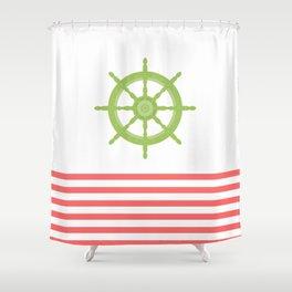 AFE Nautical Wheel 2019 Shower Curtain