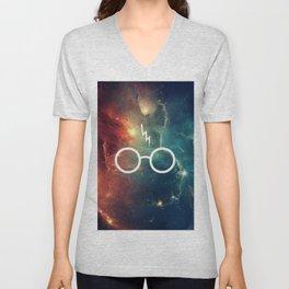 Lightning Scar Nebula HP Unisex V-Neck