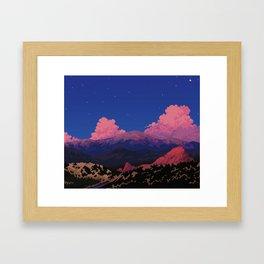 Sunset at Garden of the Gods Framed Art Print