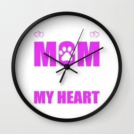 Rescue Moms Full Heart Mothers Day T-Shirt Wall Clock