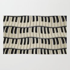 Rock And Roll Piano Keys Rug