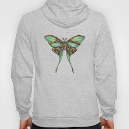 Steampunk Green Luna Moth Hoody