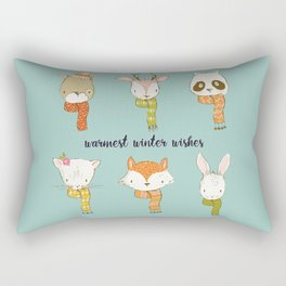 Warmest Winter Wishes Rectangular Pillow