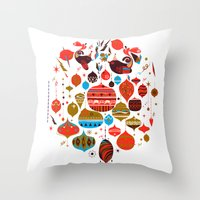 xmas Throw Pillows featuring xmas by echo3005