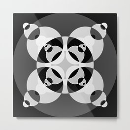 021 Abstract white, grey and black art for home decoration Metal Print