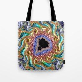 Colorful Slopes Mandelbrot Fractal Tote Bag