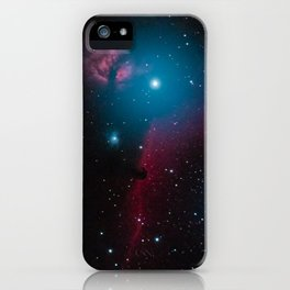 Flame and horsehead nebula iPhone Case