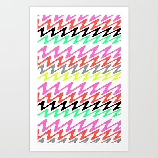 Zig Zag Stripes Art Print