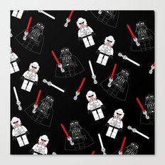 Darth-Black Canvas Print
