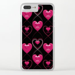 Ornament of Hearts Clear iPhone Case