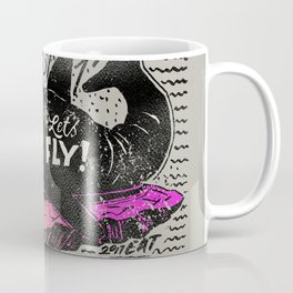 Hey you, let's fly! - Said the whale Coffee Mug