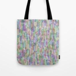 Brushstrokes on White Tote Bag