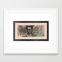 xmen Framed Art Prints featuring xmen by Laura Sheila Rafferty Fine Arts