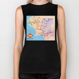Fantastic metro map Biker Tank