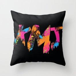 Iaia in Black Throw Pillow