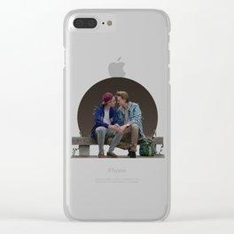 LOVE, EVAK. (dark version) Clear iPhone Case