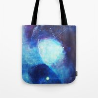 constellation Tote Bags featuring constellation by Oana Popan