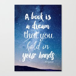 Neil Gaiman, quotes, inspirational art, beautiful words Canvas Print