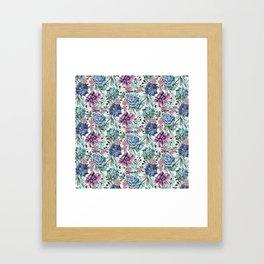 Succulent Pattern Framed Art Print