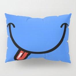 Blue Smiley Face  Pillow Sham