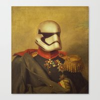 stormtrooper Canvas Prints featuring Stormtrooper  by Alex Malyon