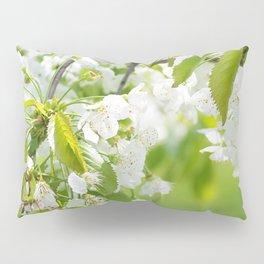 White cherry blossoms romance Pillow Sham