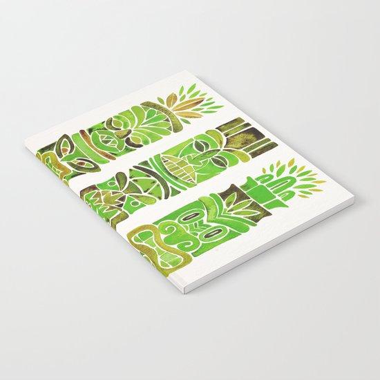 Tiki Totems – Green Notebook