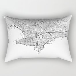 Montevideo Map White Rectangular Pillow