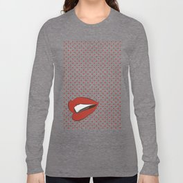 Pop art lips Long Sleeve T-shirt